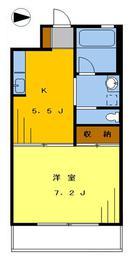 高円寺ビル708の間取り図