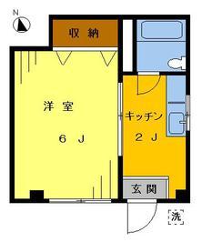 横瀬ハイツ1階101号の間取り図