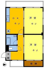 高円寺パレスマンション203の間取り図