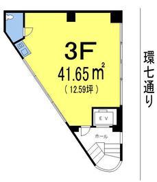 NKビル3Fの間取り図