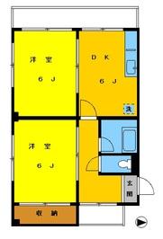 高円寺パレスマンション201の間取り図