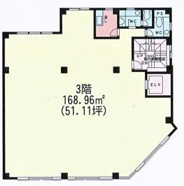 Core高円寺ビル 3Fの間取り図