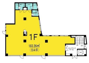 金田ビル 1階の間取り図