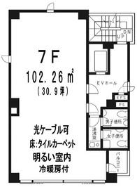 高円寺岡本ビル 7階の間取り図