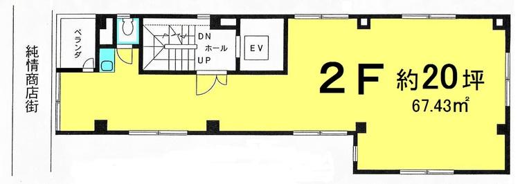 レインボービル 2階の間取り図