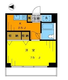 エメラルドタワー302の間取り図