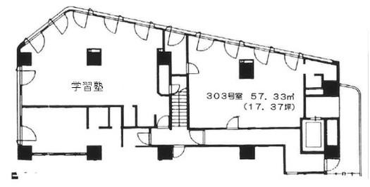 高円寺リリエンハイム 303の間取り図